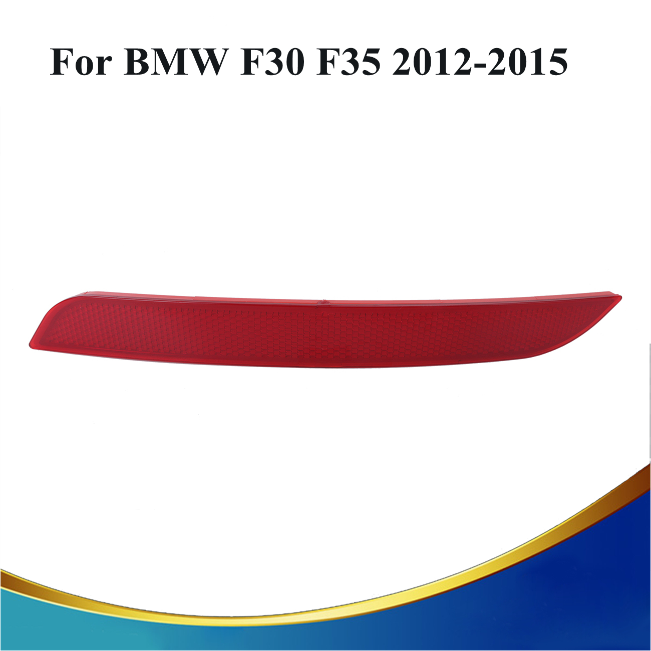 Right side red rear bumper reflector back warning light for bmw f30 f35 335i 328i 320i auto car styling 3099 r