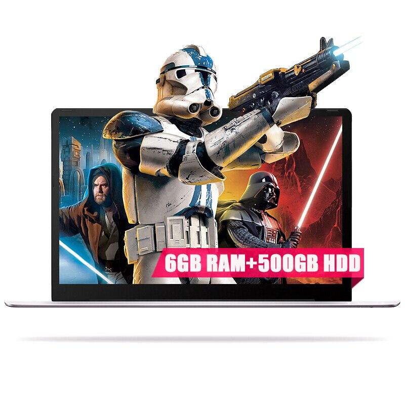 15.6 дюйма 1920x1080 P FHD 6 ГБ Оперативная Память 500 ГБ HDD Intel Apollo Lake N3450 4 ядра Оконные рамы 10 системы ультратонкие Тетрадь ноутбук