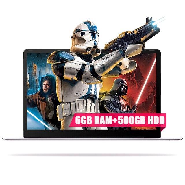 15.6 дюйма 1920x1080 P FHD 6 ГБ Оперативная Память 500 ГБ HDD Intel Apollo Lake n3350/3450 Оконные рамы 10 Системы ультратонкие Тетрадь ноутбук