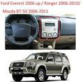 Fascia Face Plate Painel Duplo Painel Stereo Din para Ford Ranger Everest Mazda BT-50 BT50 Facia Rádio Instalação Traço Guarnição Kit