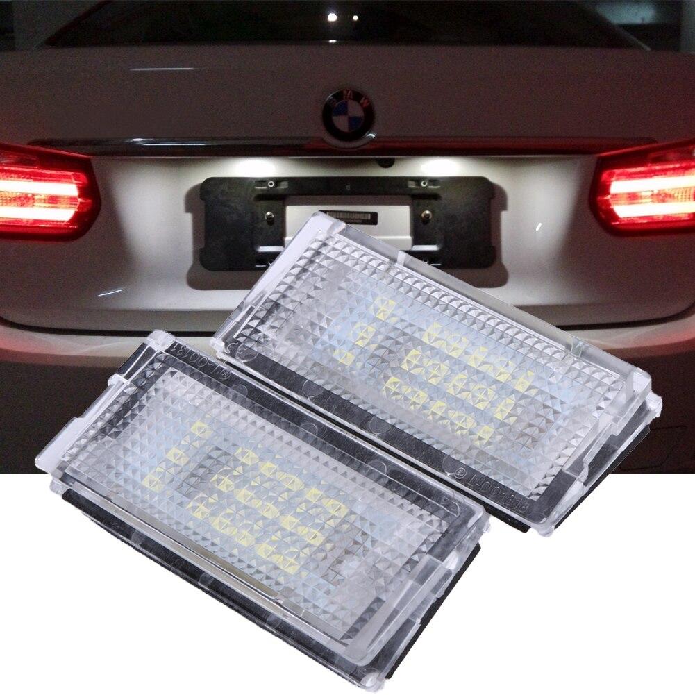 2 Stücke Weiß 18 LED Auto Licht Lampen 3528SMD Kennzeichenleuchte ...