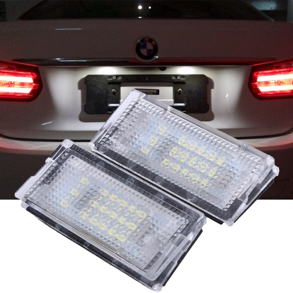 2Pcs White 18 LED License Plate Lights Lamps Bulbs 3528SMD Number Plate Light For BMW E46 4D (98-03) bl fp230a sp 83r01g 001 replacement projector bare lamp for optoma dx608 ep747 ep7475 ep7477 ep7479