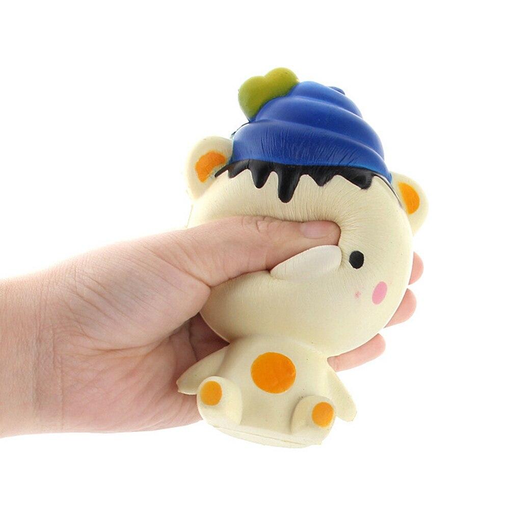 Cute Rilakkuma Starry Ice Cream Bear Cartoon Slow Rising Squishy Cream Scented Bread Kids Fun Anti Stress Toy Funny Gift Pranks