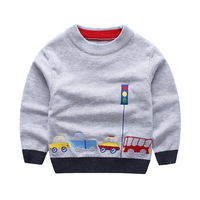 2017 autumn winter Brand Children cotton T shirt fleece Sweatshirts baby boys girls car hoodies kids wool warm clothes 2 7 years