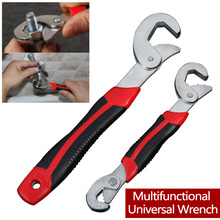цена на 1PCS Universal Multi-Function Wrench 8-32mm  Ratchet Wrench Spanner Hand Tools Adjustable Grip Wrench Set 2018