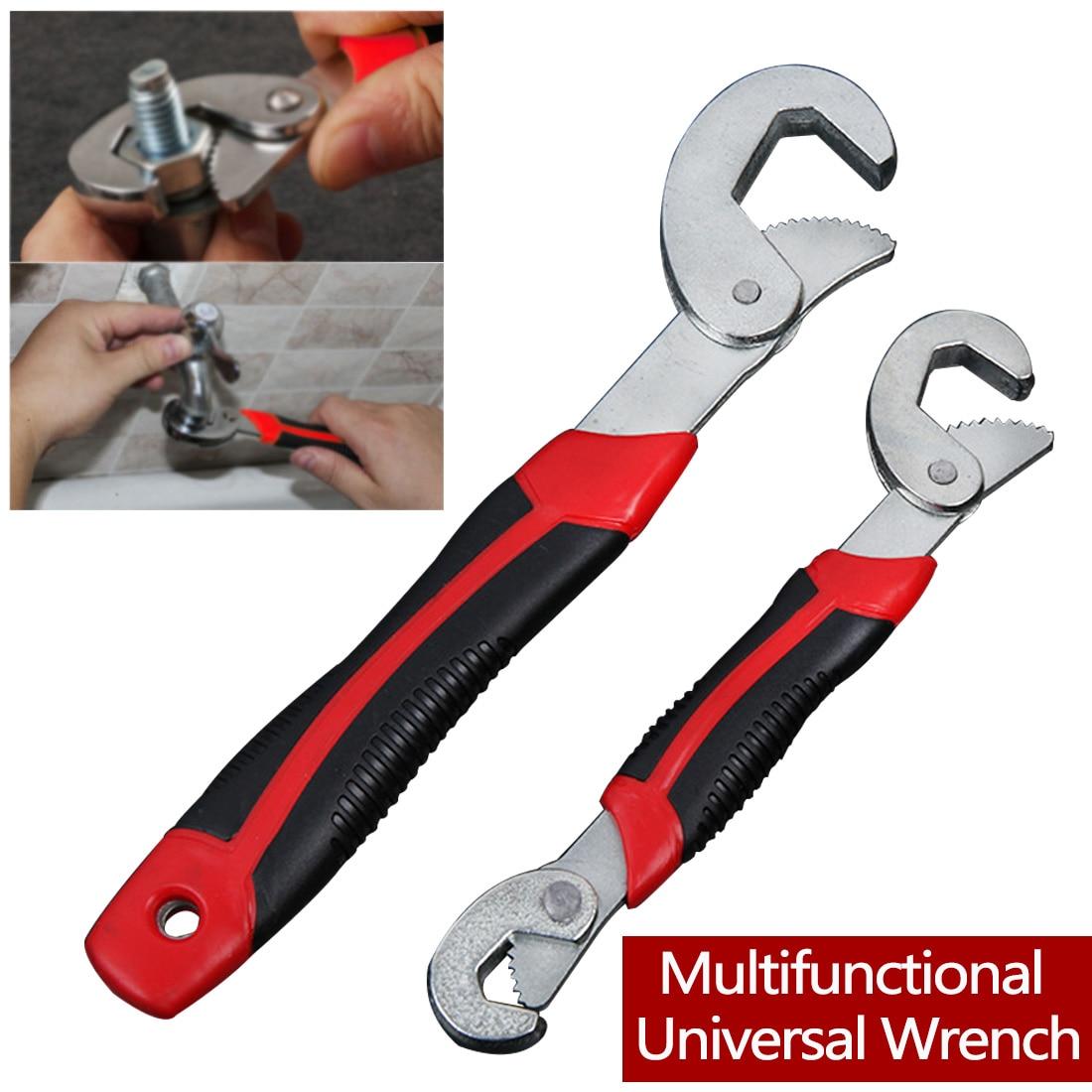 Universal Multi-función llave 8-32mm trinquete llave inglesa herramientas de mano ajustable Grip Wrench Set