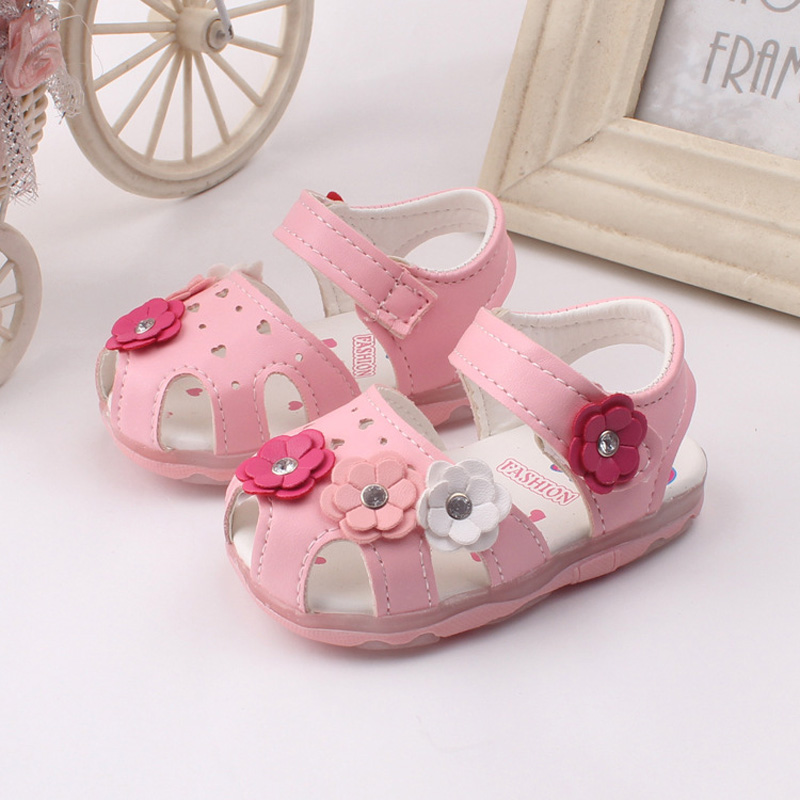 Baby Sandals Kids 2016 Toddler Girls Shoes Summer Princess Sandal Kids Floral Baby Sandalen Soft Children Sandals