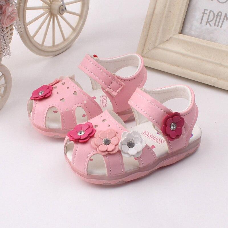 Baby Sandals Kids 2016 Toddler Girls Shoes Summer Princess Sandal Kids Floral Baby Sandalen Soft Children Sandals