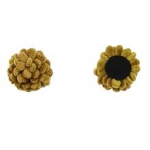 50pcs/lot 1.5*2.5cm Mini Felt Flowers DIY Handmade Crafts Hair Accessories MOMLOVEDIY