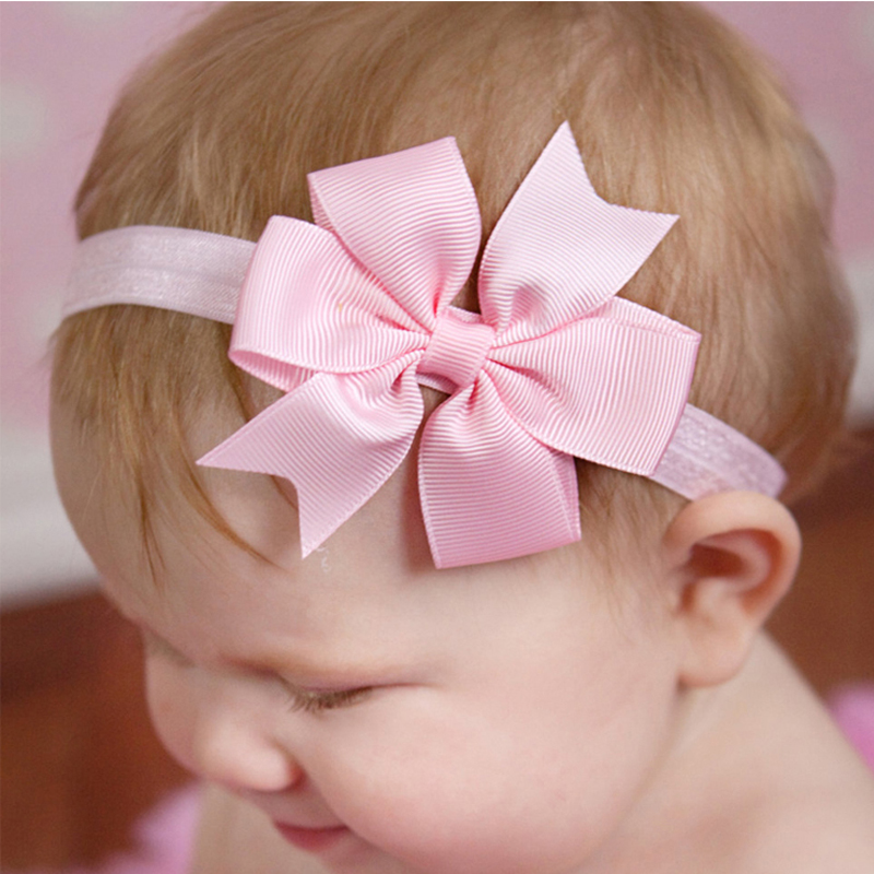 1PC Kids  Big Rabbit Ear Bow Headband Headwear Hair Ribbons Ponytail Holder Hair Tie Band Korean Style Hair  Accessories W048 1 pc women fashion elastic stretch plain rabbit bow style hair band headband turban hairband hair accessories