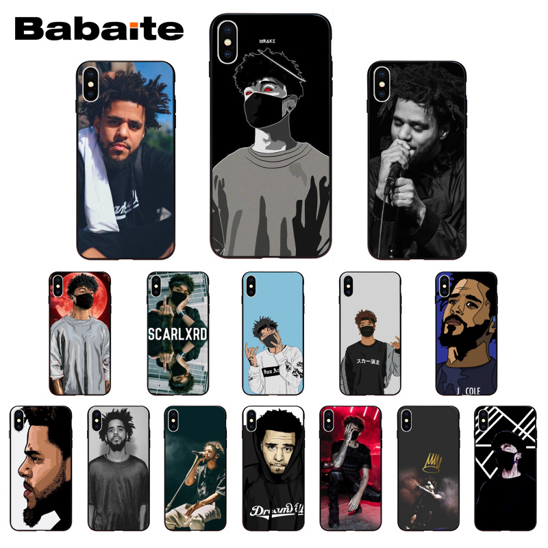 Babaite Scarlxrd J Cole Colorful Cute <font><b>PhoneCase</b></font> for <font><b>iPhone</b></font> X XS XR XSMax 6 6S 7 <font><b>7plus</b></font> 8 8Plus Xs 5 5s SE 5c11 11pro 11promax image