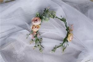 Image 3 - Vintage Wedding Headband Flower Wedding Hair Comb Bohemia Wedding Jewelry Handmade Hair Pieces for Women  Flower Headwear HD26