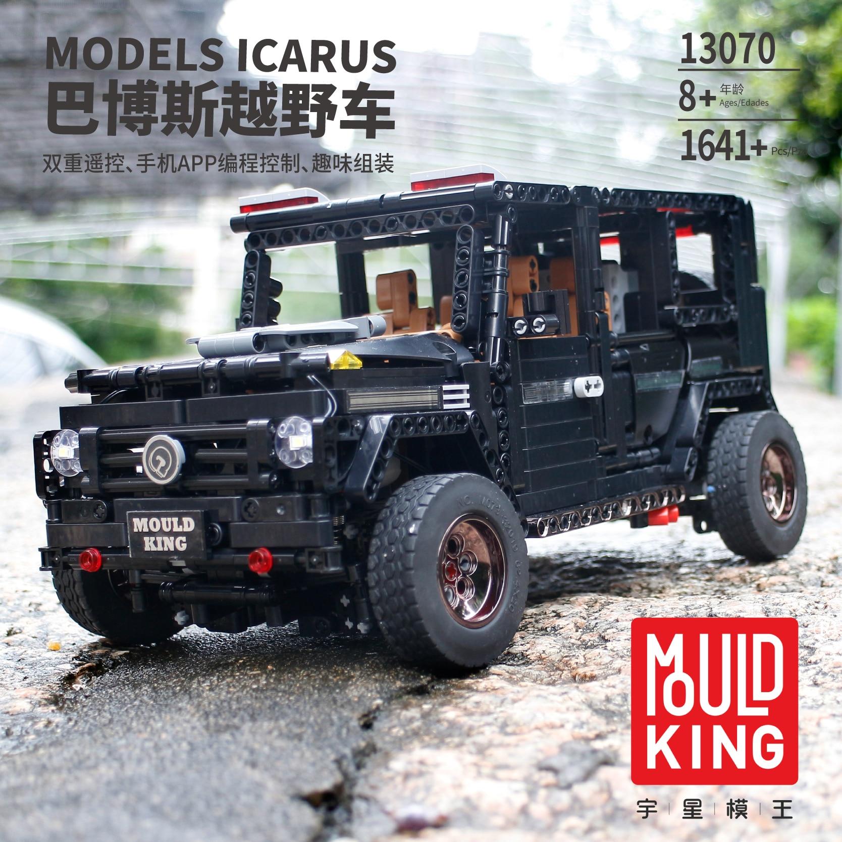 APP Technic 13070 1770 pièces legoinglys SUV G500 AWD Wagon RC moteurs voiture ensembles blocs de construction briques jouets éducatifs 20100