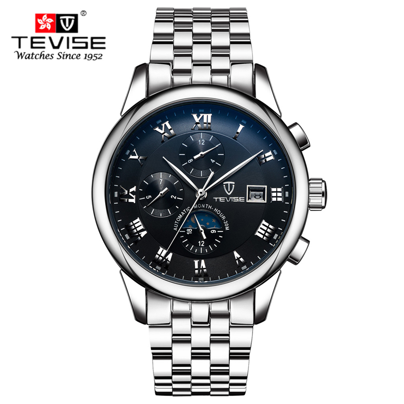 TEVISE Fashion Casual Mens Watches Top Brand Luxury Business Automatic Mechanical Watch Men Wristwatch Relogio Masculino forsining fashion brand men simple casual automatic mechanical watches mens leather band creative wristwatches relogio masculino