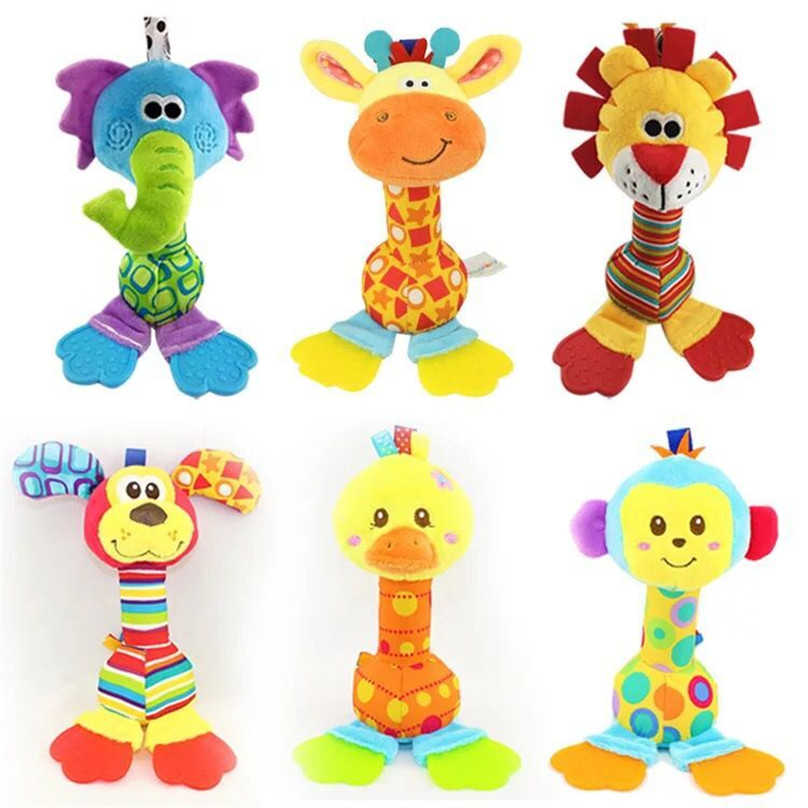 new 16cm plush Cartoon animal  lion dog doll hand stick baby toy Hung on me pendant Children's gift