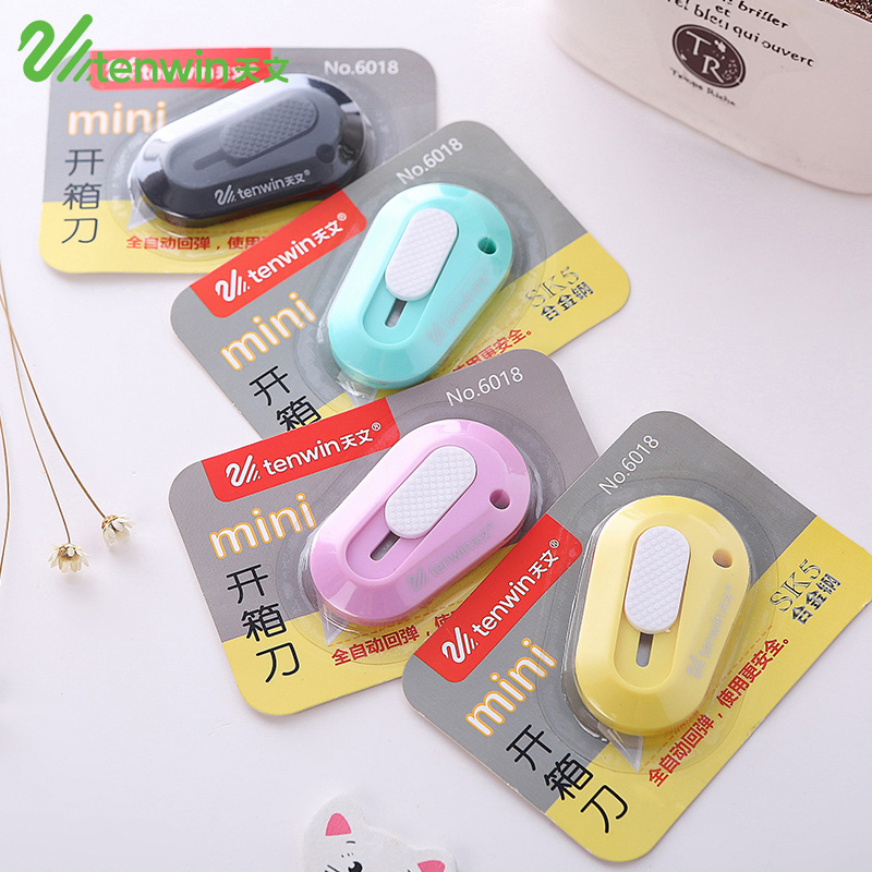 2 Pcs/lot Kawaii School Utility Knife Paper Cutters Cute Mini DIY Stationery Knife Box Cutter For Kids Art And Crafts Supplies