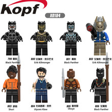 Blocos de construção Única Venda Black Panther Erik Killmonger Shuri Ulysses Klaw Super Heroes Tijolos Modelo Brinquedos de Presente Crianças X0184