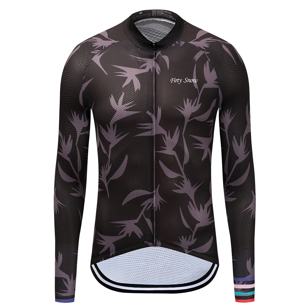 Firty Snow New pattern Mens Cycling Jersey Long Sleeve Ropa Ciclismo Bicycle Clothing Quick Dry Riding Clothes