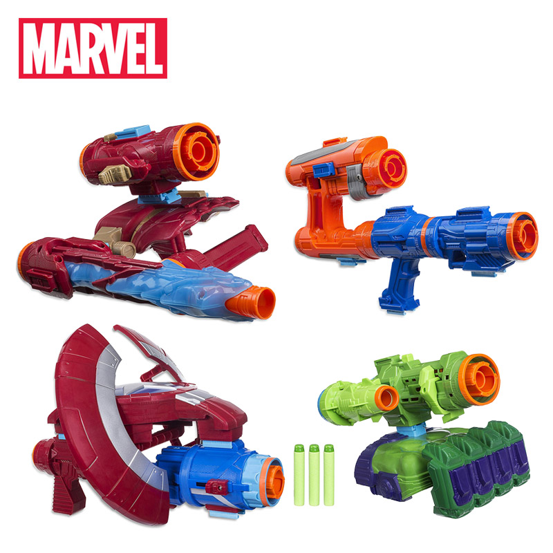Marvel Toys Avengers Infinity War Iron Spider Star Lord Iron Man Captain American Hulk Assembler Gear Superhero Cosplay Weapon