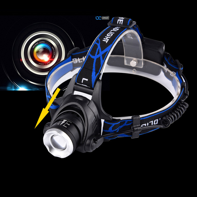 Rechargeable headlights XML T6 LED lamp outdoor riding mountain Head Light waterproof charge long-range hunting headlamp 18650