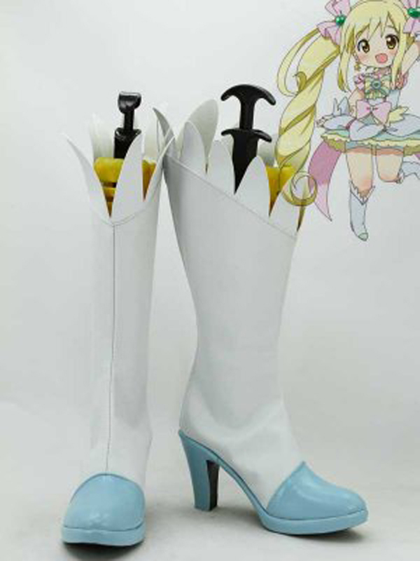 Pretty Cure Sakagami Ayumi Cure Echo Cosplay Boots Shoes Anime Party Cosplay Boots Custom Made for Adult Women High Heel Shoes