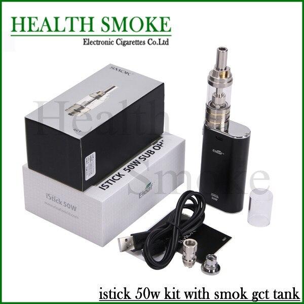 New Hot vender Original melhor Eleaf 50 W Kit completo Eleaf Istick 50 W Mod com smok gct atomizador 4 cores 510 tópico frete grátis