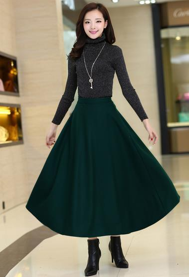 Long wool skirts winter – Fashion clothes in USA photo blog