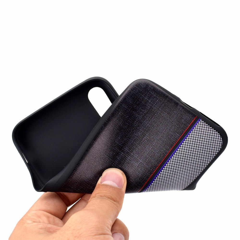 ل أبل فون XS ماكس 6.5 بوصة سليم جلدية فاخرة عودة رقيقة جدا TPU حالة غطاء دروبشيبينغ April03