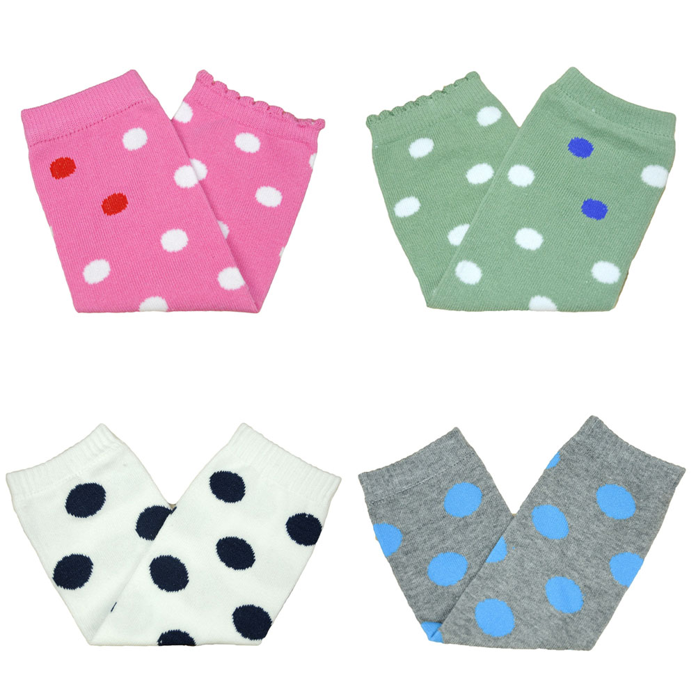 Toddler Girl Polka Dots Arm Leg Warmers Cotton Winter Warm Socks Tights SCKXW0509