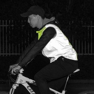 Image 5 - Rockbros ランニング反射ベスト屋外スポーツ安全ジャージ cycing バイクノースリーブ乗馬自転車ベスト男性女性ライトベスト