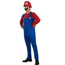 Cosplay Adultes et Enfants Super Mario Bros Cosplay Costume De Danse ensemble Enfants Halloween Party MARIO & LUIGI Costume pour Enfants cadeaux