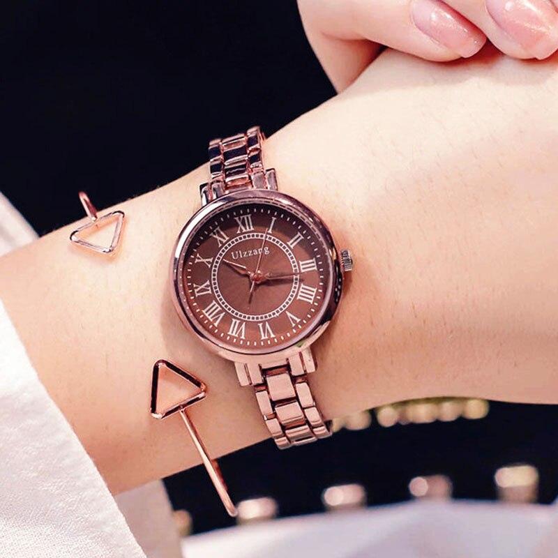 2019 Luxury Brand Women Watches High Quality Stainless Steel Chain Ladies Bracelet Watch Fashion Female Clock Relogio Feminino