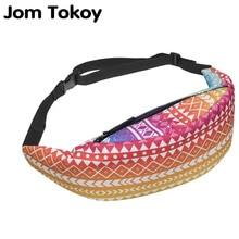 Jom Tokoy τρισδιάστατη τσάντα φερμουάρ γυναικών εκτύπωσης τσάντα μέσης τσάντα παπουτσιών παπουτσιών τσάντα εθνοτικής τσάντα Ethnic Ombre ταξιδίου τσάντα για άνδρες bolsa γυναικεία 2017