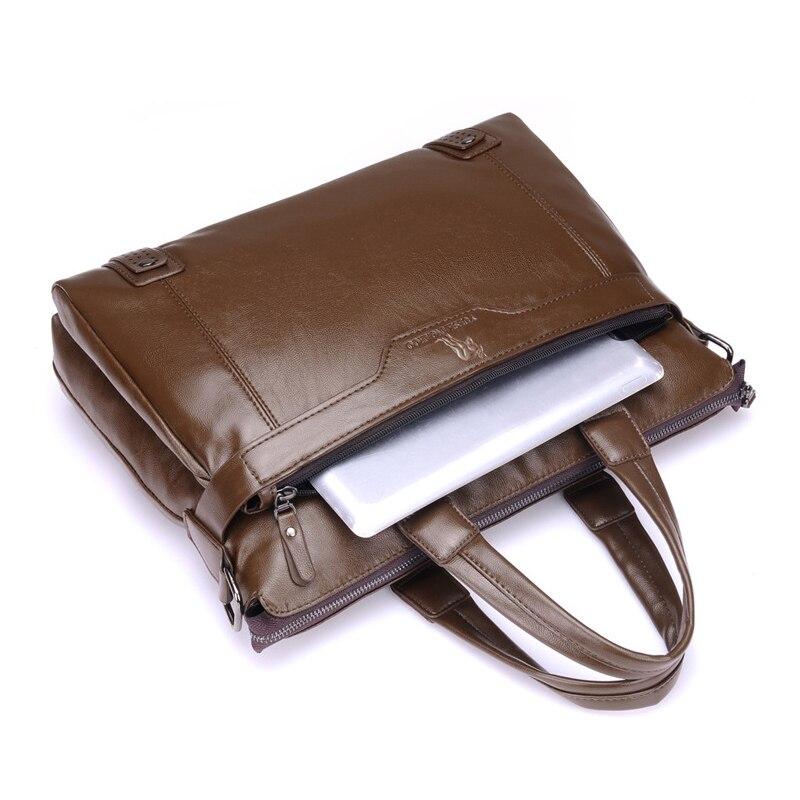 YUES KANGAROO Novi čovjek torbu kožna Business Messenger Bag - Torbe - Foto 4