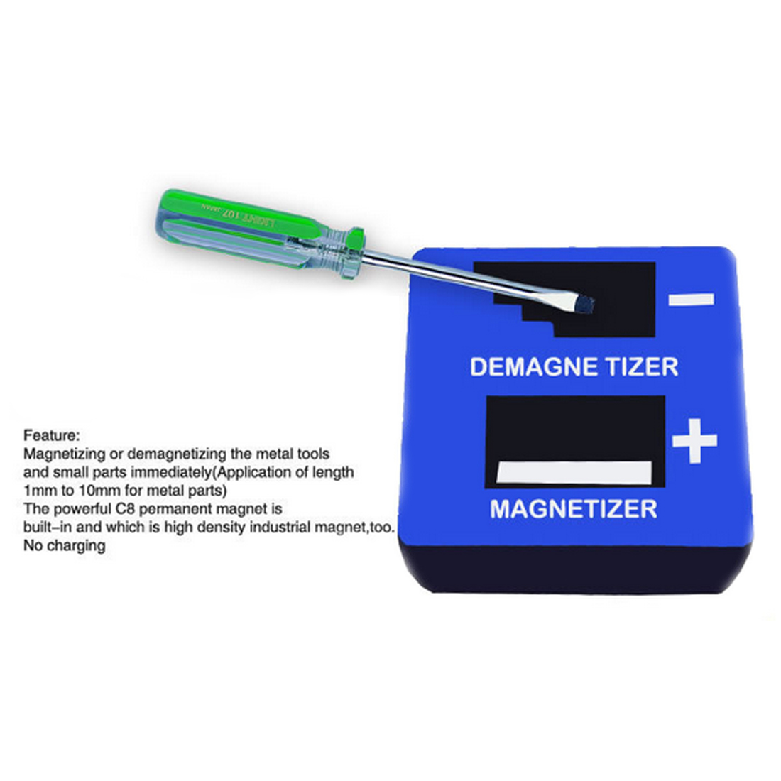 цена на 1 Piece New High Quality Magnetizer Demagnetizer Tool Blue Screwdriver Magnetic Pick Up Tool Screwdriver