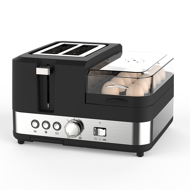Multi-purpose toaster Breakfast machine Household kitchen Automatic bread machine 220V Best gift for family cukyi 2 slices bread toaster household automatic toaster breakfast spit driver breakfast machine