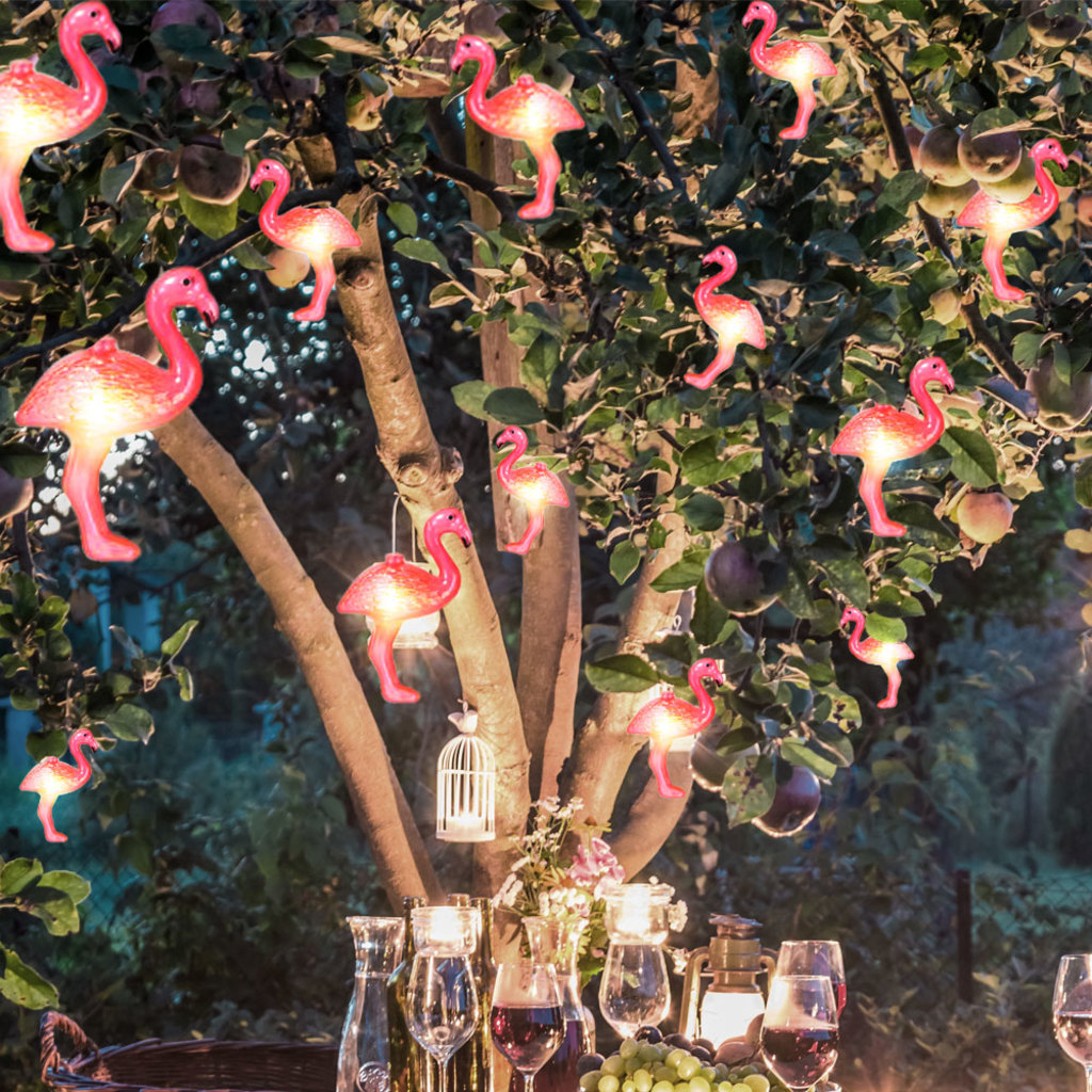 10LED Fairy Lights Flamingo Decorative String Night Light For Girl Room Home Indoor Outdoor Party Patio Home Decoration