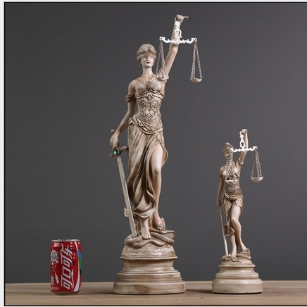 American retro decorations handheld scales of justice for Artemis decoration