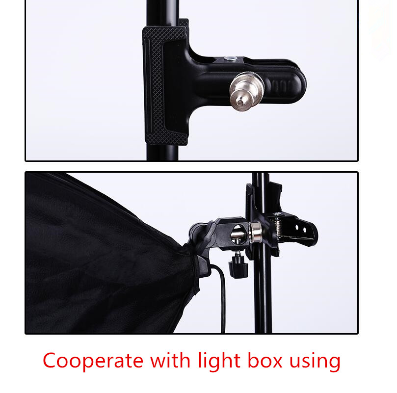 Free shipping 1 pcs multi-function Strong clip Heavy Duty Metal Clamp 1/4 Screw For Photo Studio Camera DSLR Flash Light Stand