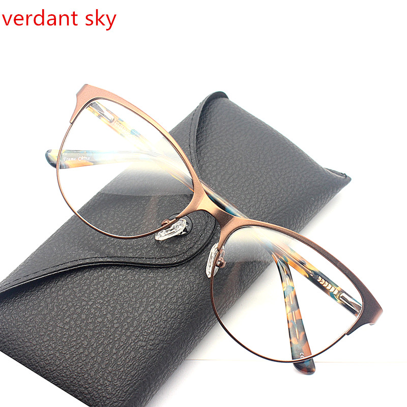 3c49a214d91 Titanium Alloy Glasses Frame Men Ultralight Women Vintage Round Prescription  Eyeglasses Retro Optical Frame Screwless Eyewear