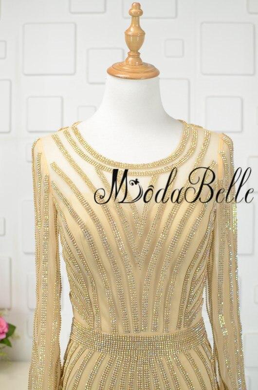 modabelle Ντουμπάι χρυσό φόρεμα με μακρύ - Ειδικές φορέματα περίπτωσης - Φωτογραφία 5