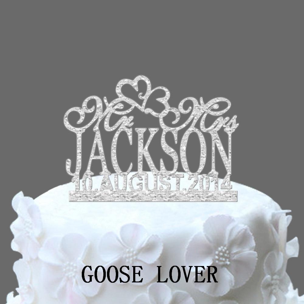 Wedding Cake Recipe Custom History: Personalized Wedding Cake Topper, Acrylic Custom Name Cake