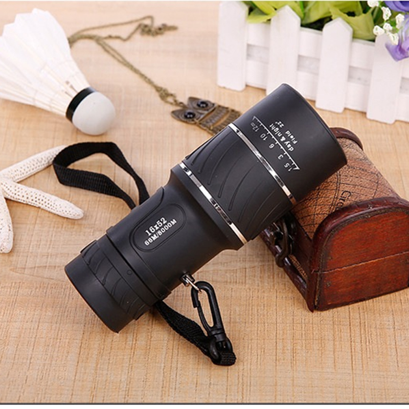 outdoor hunting Green film monocular 16 x 52 Optics Zoom telescope Dual Focus Day font b