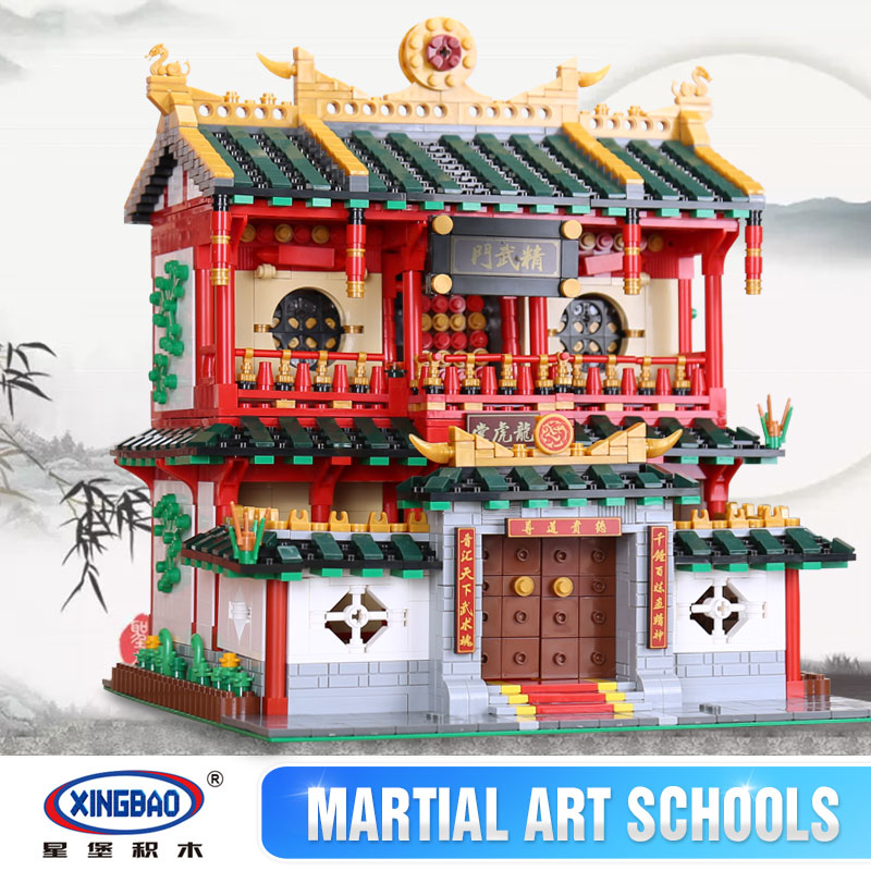 New XingBao 01004 Block Genuine Creative Building Series The Chinese Martial Arts Set Building Blocks Bricks Toys Model Gifts xingbao 01001 creative chinese style the chinese silk and satin store 2787pcs set educational building blocks bricks toys model