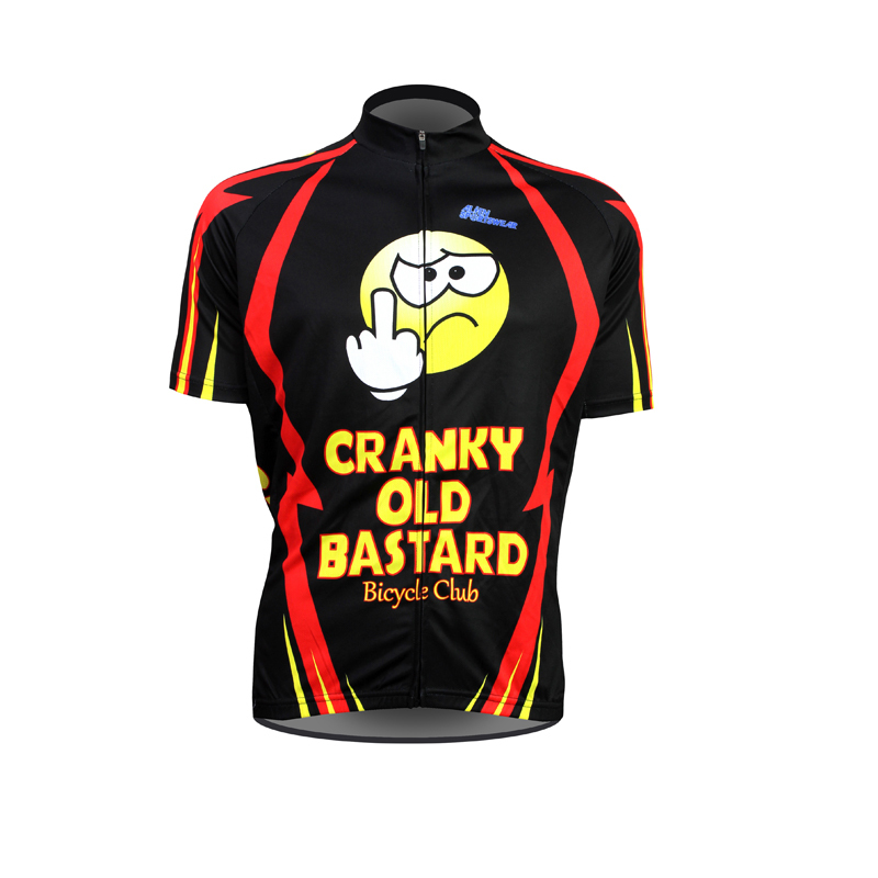 6b2ad919 Aliensports Novelty Cycling Jersey Short Sleeve Cranky old bastard  Sportswear Funny Summer Breathable Bike Shirt ropa ciclismo