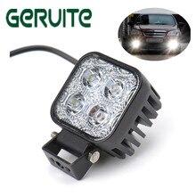 Hot 12w Car LED Offroad Work Light Bar for Jeep 4x4 4WD AWD Suv ATV Golf Cart 12v 24v Driving Lamp Motorcycle Fog Light