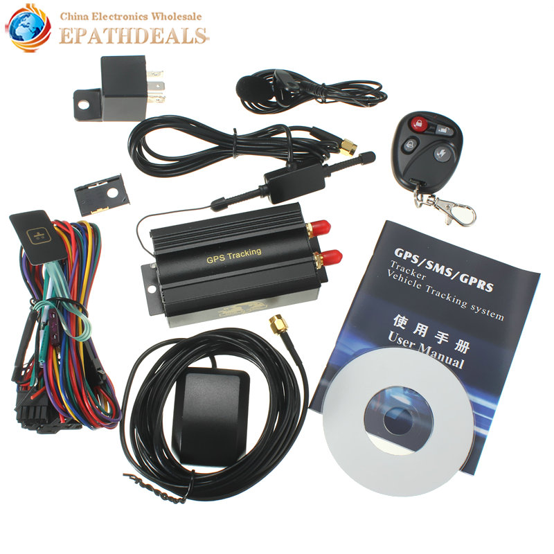 tk103b ka car gps tracker remote control auto vehicle sms gsm gprstracking device with sos. Black Bedroom Furniture Sets. Home Design Ideas