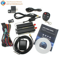 TK103B KA Car GPS Tracker Remote Control Auto Vehicle SMS / GSM / GPRSTracking Device with SOS alarm
