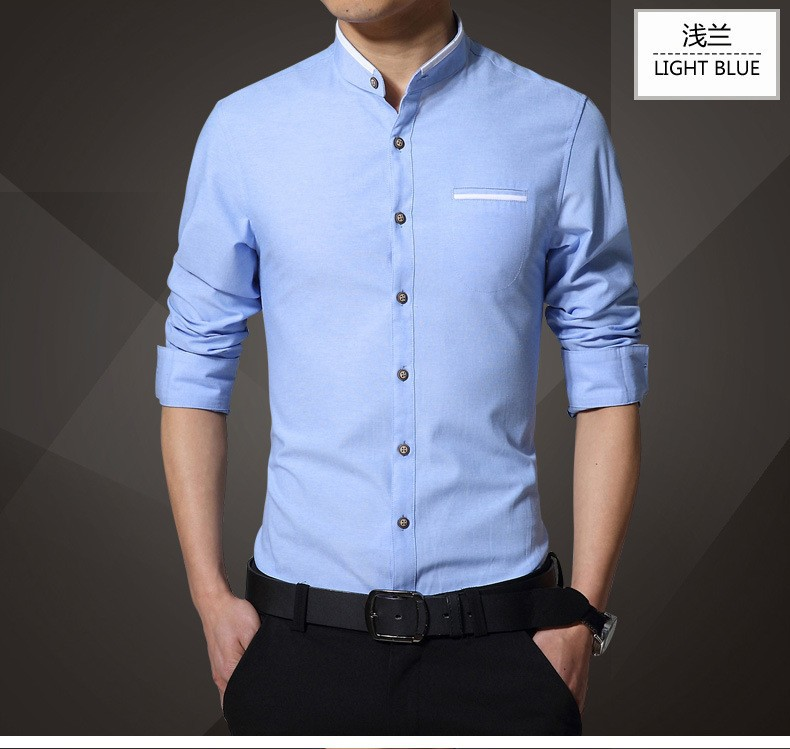 1pcs Men s shirts plus size 2019 Spring Fashion Pure cotton long ... 916abe97a386