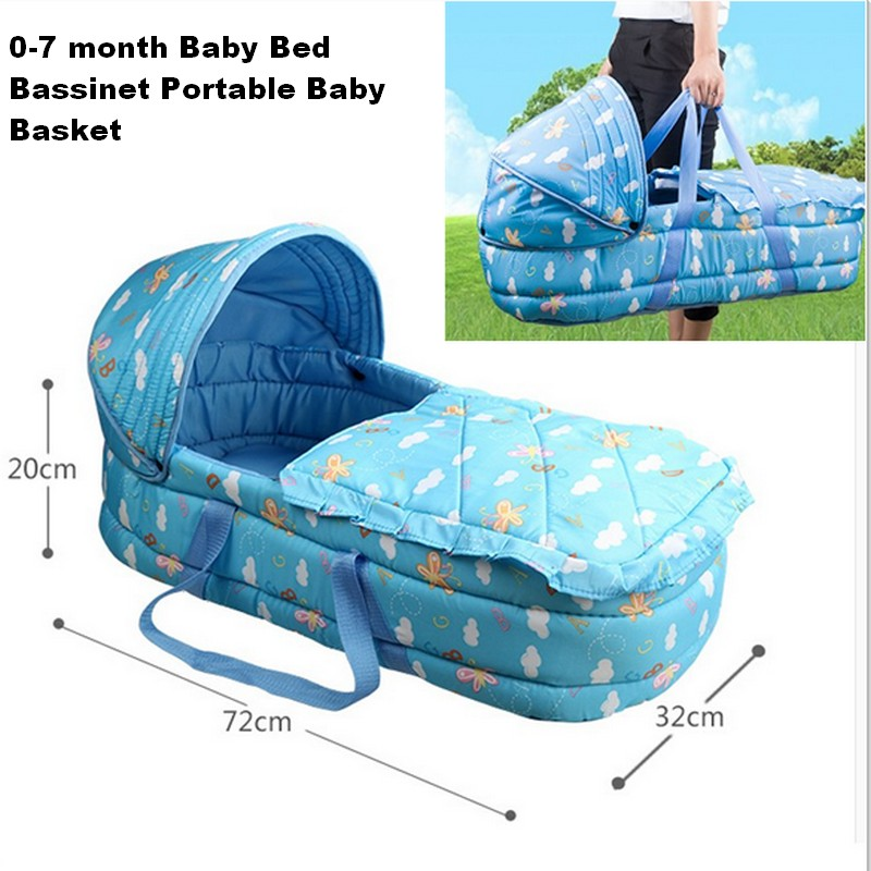 Baby bed portable baby crib Portable Baby Bassinet Bed for 0-7Month Baby Basket Comfortable Newborn Travel Bed Cradle dropship orbit baby люлька колыбель orbit baby g3 bassinet